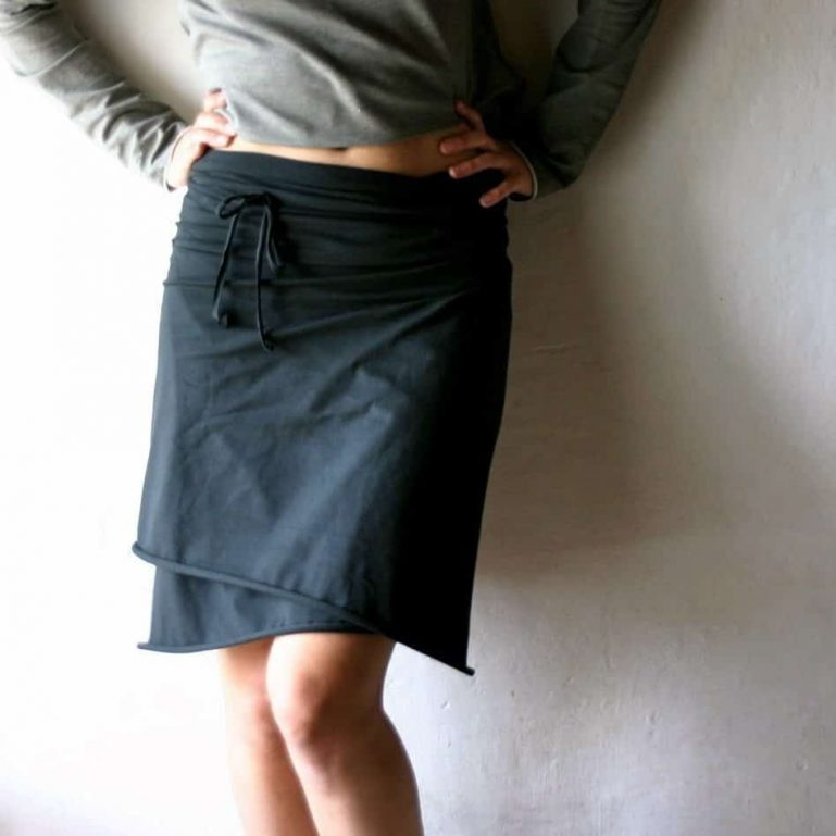 Edgy Cotton Wrap Skirt