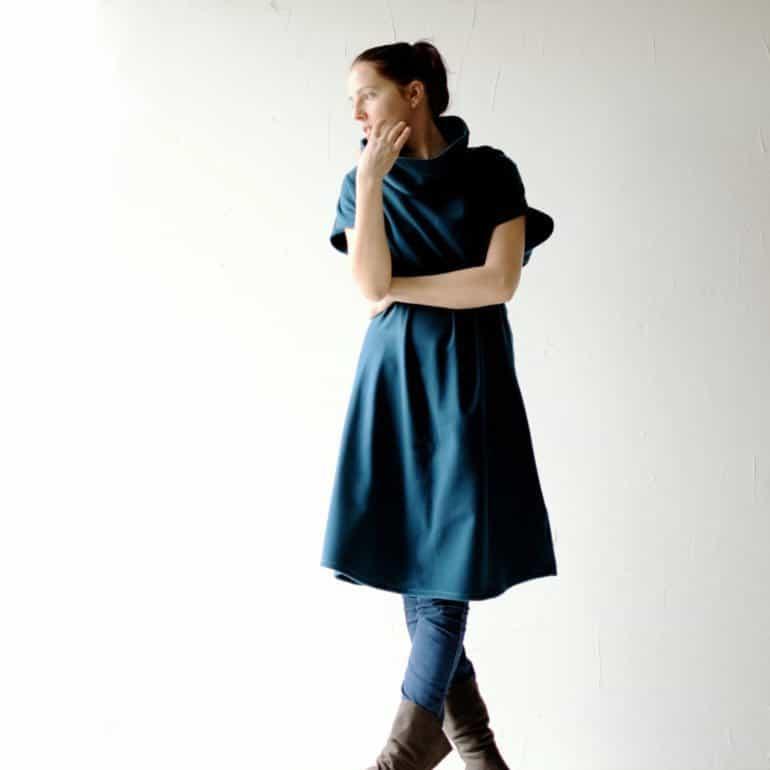 Teal Blue Sweater Dress