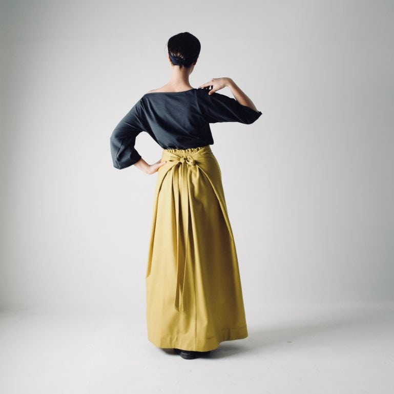 Long Wool A-line Skirt