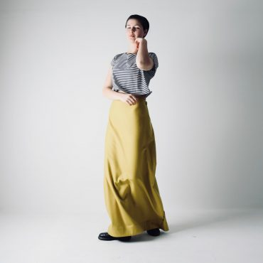 Long Wool A-line Skirt