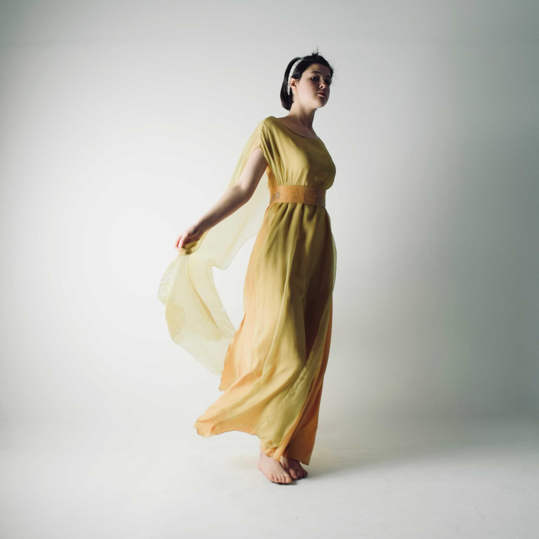 Allium ~ Golden Wedding Dress - Larimeloom Italian Handmade Clothing