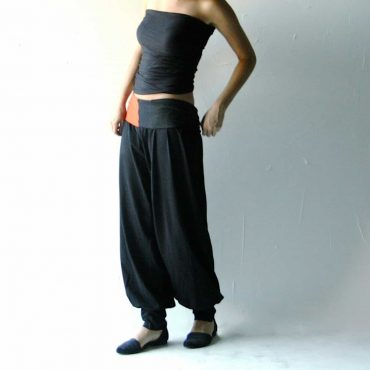 Pantaloni larghi Harem in cotone