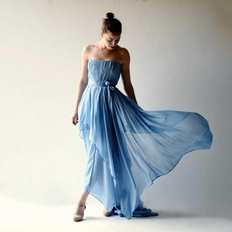 Amsonia ~ Romantic Wedding Dress - Larimeloom Handmade Clothing