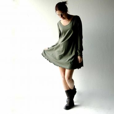 Cotton Jersey Sweater Dress