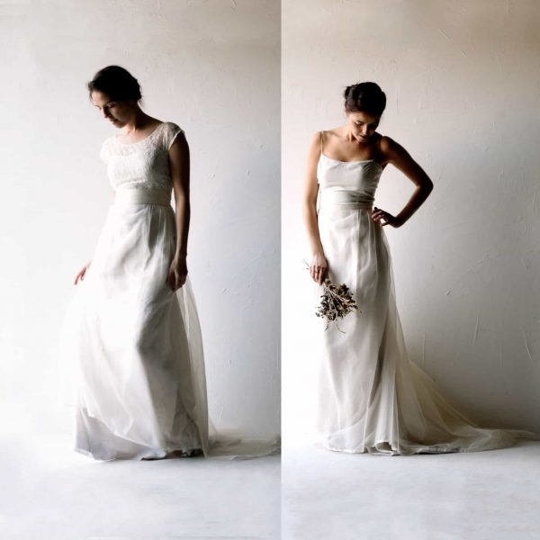 Delicate Silk Wedding Dress