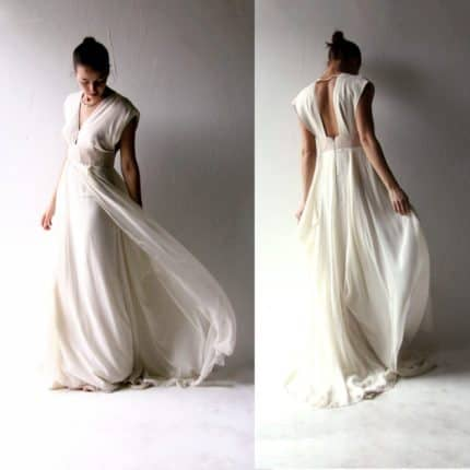 Polianthes ~ Blush Wedding Dress