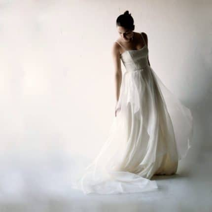 Iris ~ Lace and Organza Gown