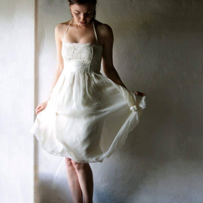 Pimpernel ~ Short Bohemian Wedding Dress