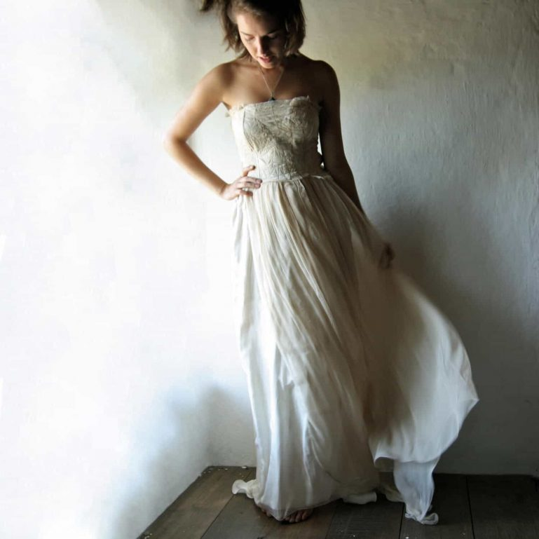 Long Bohemian Wedding Dress