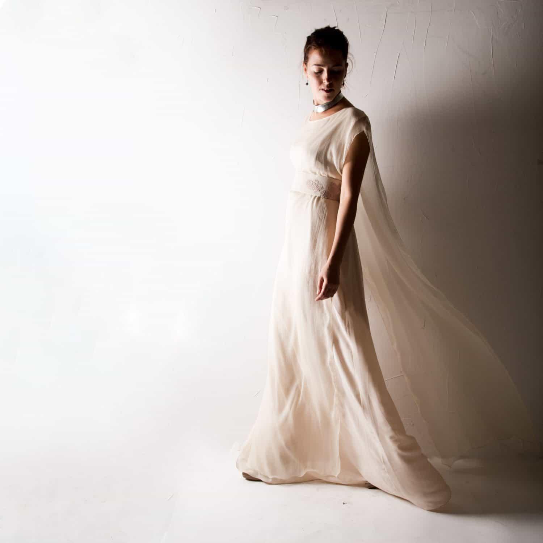 Hedera ~ Pagan Wedding Dress - Larimeloom Handmade Clothing