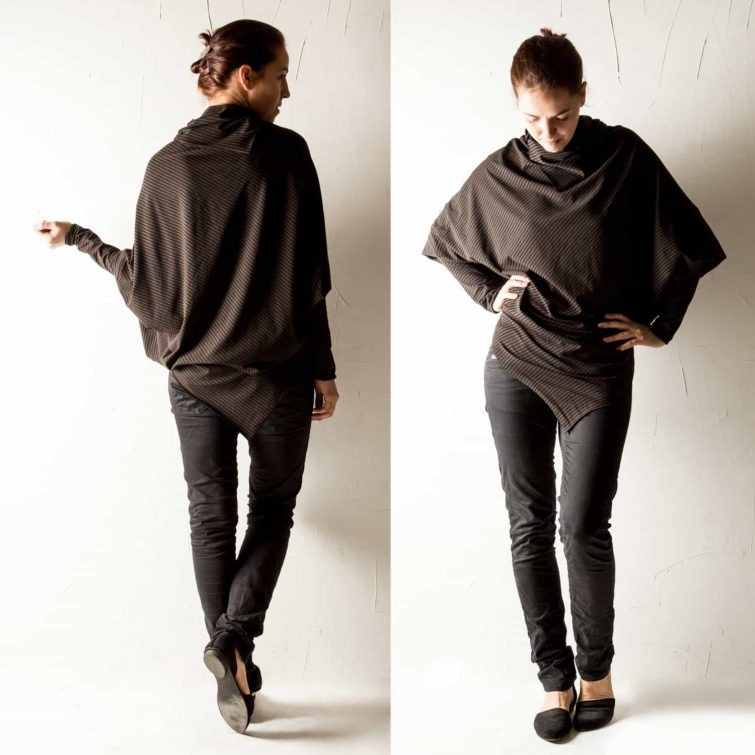 Asymmetrical Batwing top ~ Boho blouse by Larimeloom