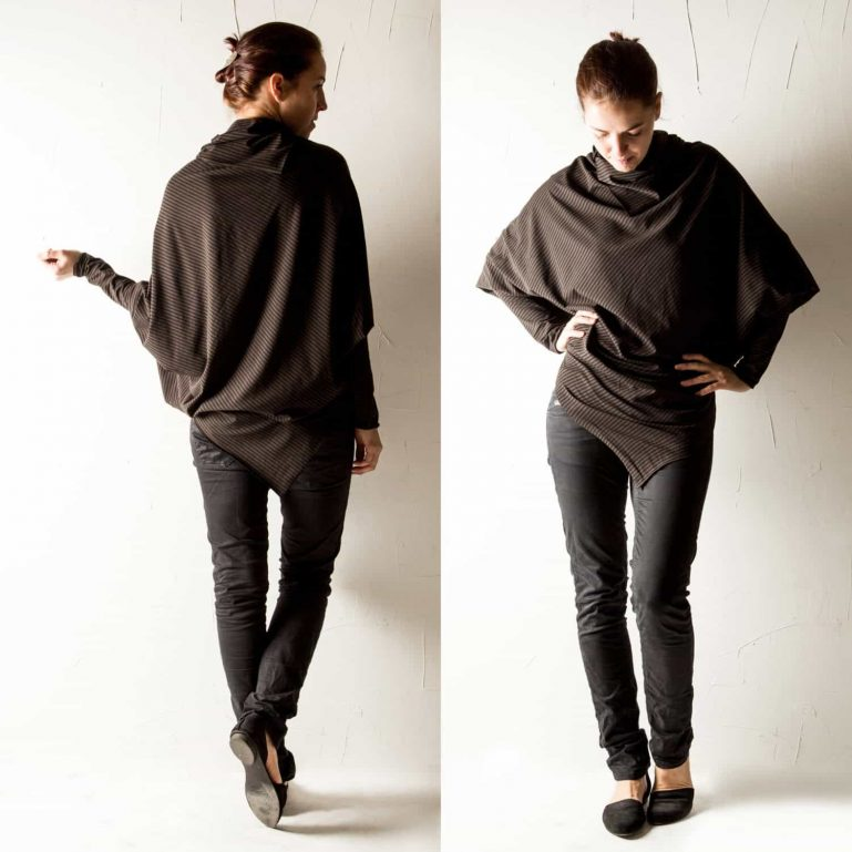 Asymmetrical Batwing top ~ Boho blouse by Larimeloom