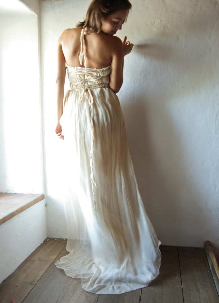 Bardane ~ Long Bohemian Wedding Dress
