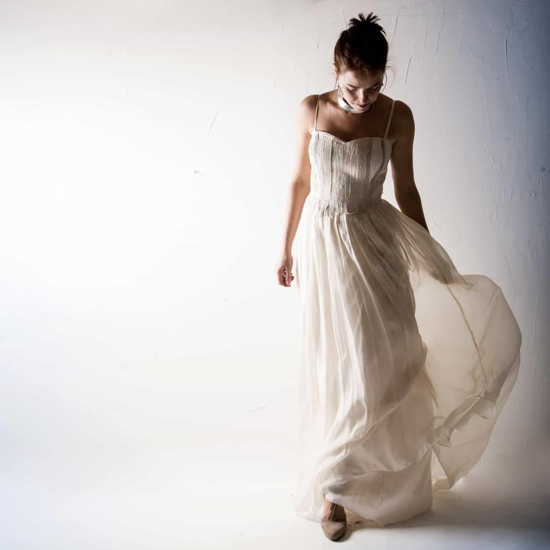 ce64527308 Textured Hemp Wedding dress - Larimeloom Handmade Clothing