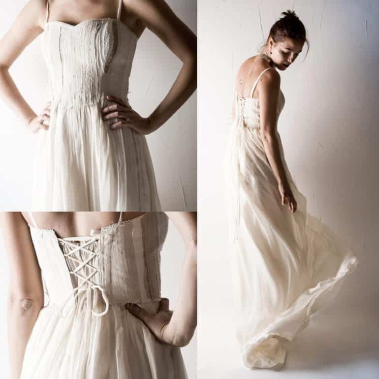 1 Lonicera Textured Wedding Dress Textured Wedding Dress