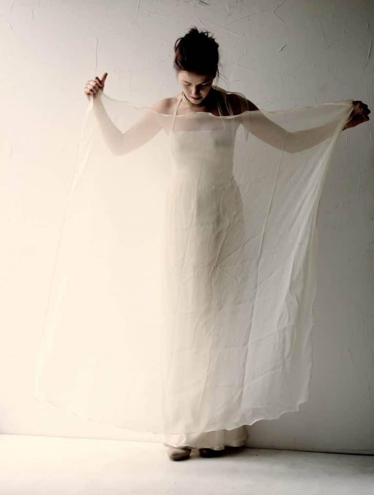 Silk Chiffon Shawl