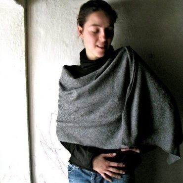 Felted Wool Poncho