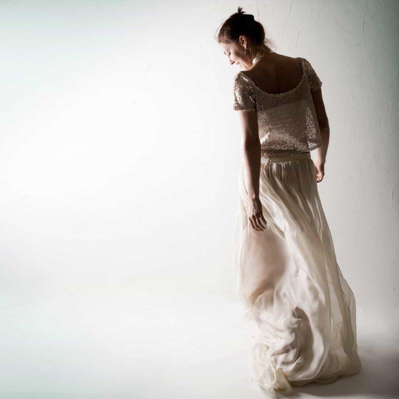 Sequinned wedding dress