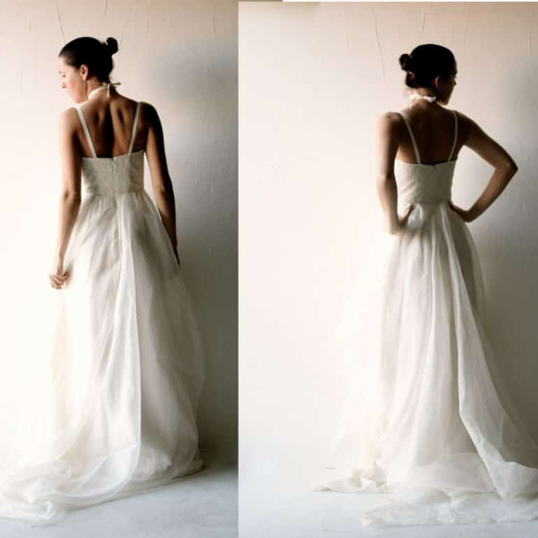 Lace and Organza wedding Gown