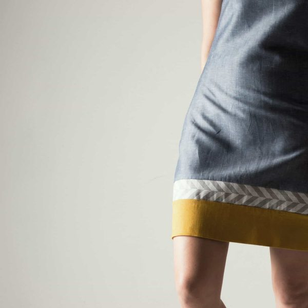 Short Linen Shift Dress