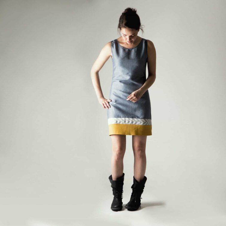 Short Linen Shift Dress