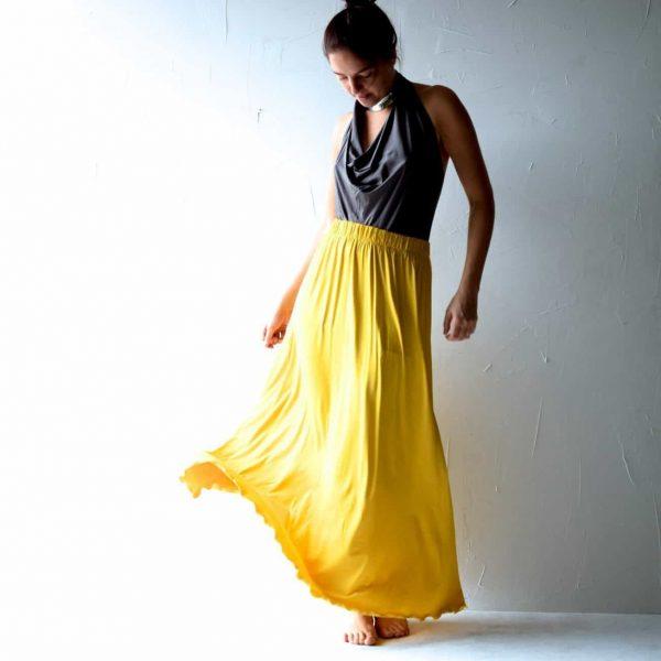 Long Jersey Skirt