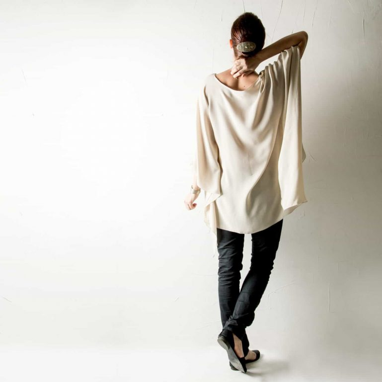 Draped Silk Blouse