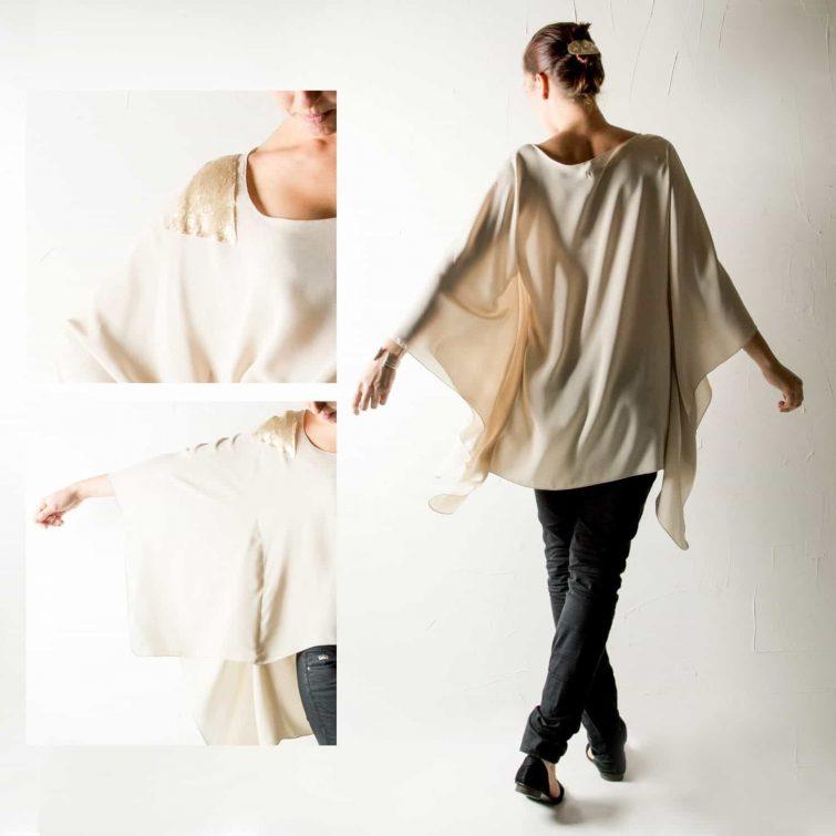 Draped Silk Blouse
