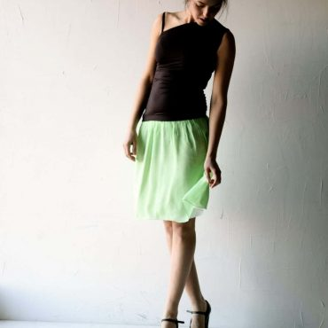 Short Silk Chiffon Skirt