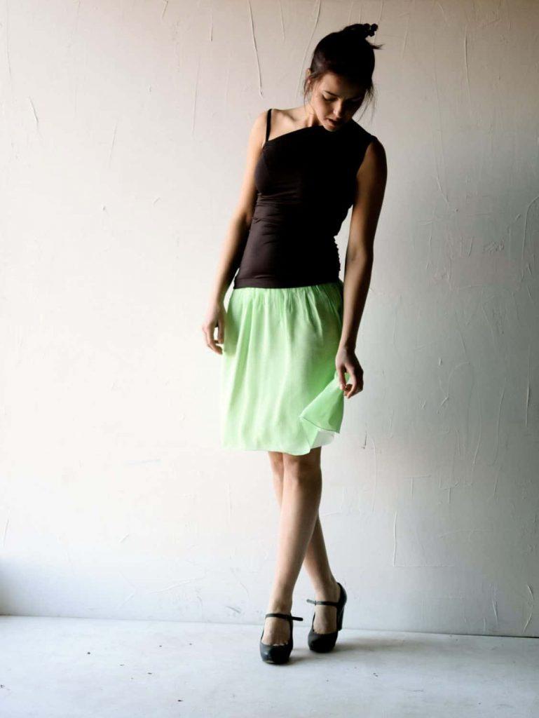 Short Silk Chiffon Skirt