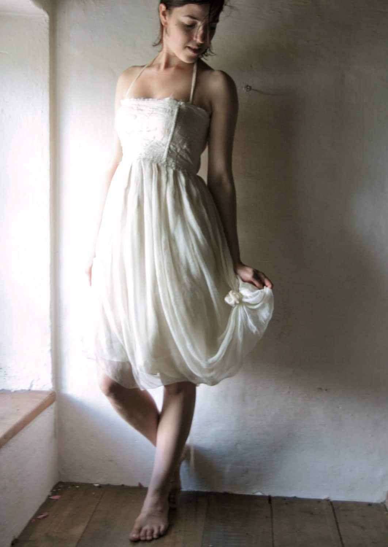 Pimpernel ~ Short Bohemian Wedding Dress - Larimeloom