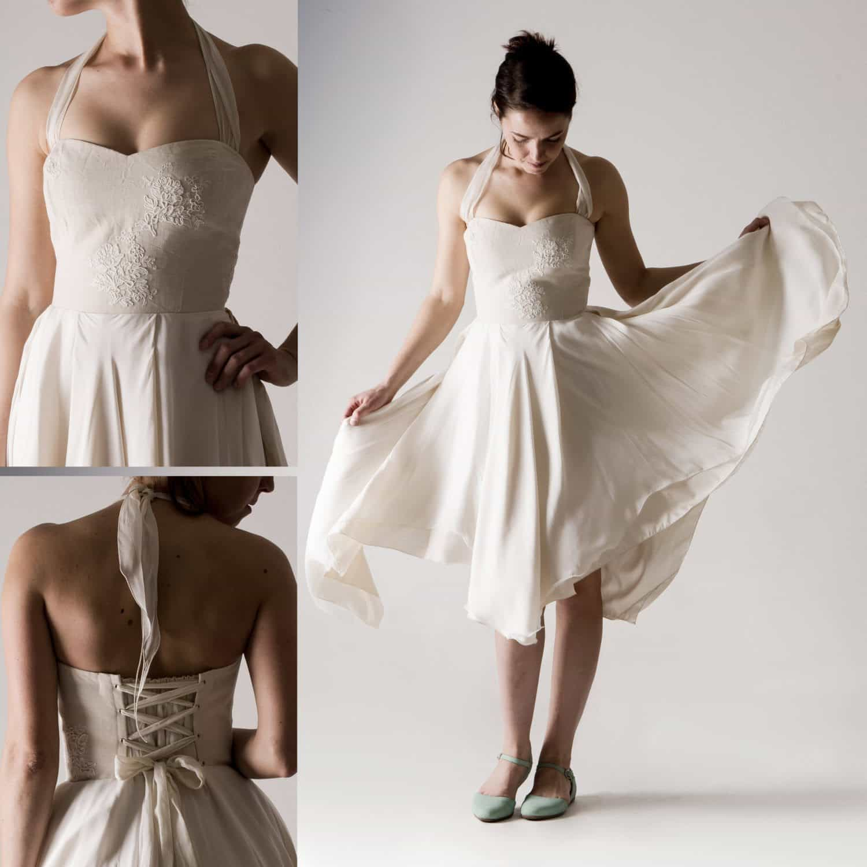 Aster ~ Twirly Short Corset Dress - Larimeloom Italian Handmade Clothing