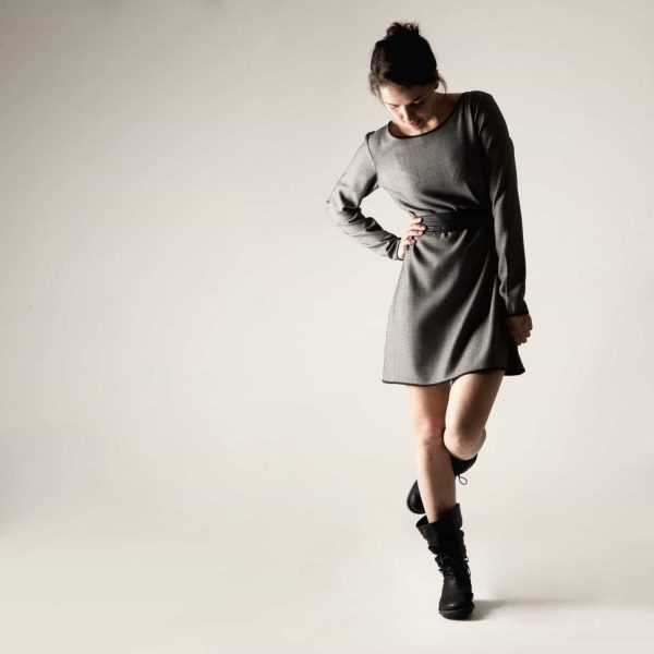 Grey Wool Sweater Dress