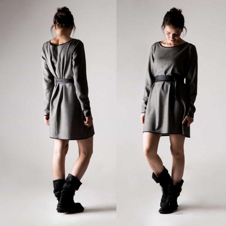 Grey Wool Sweater Dress