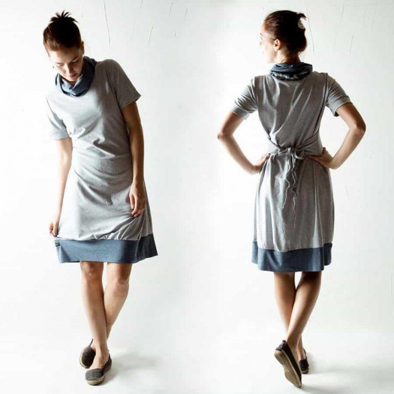 Tunic dress, Cotton dress, Grey dress, Blue dress, Tshirt dress, Winter dress, Cowl dress, Aline dress, Plus size dress, Winter clothes