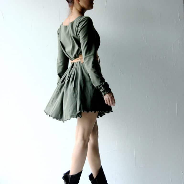 Cotton Jersey Sweater Dress