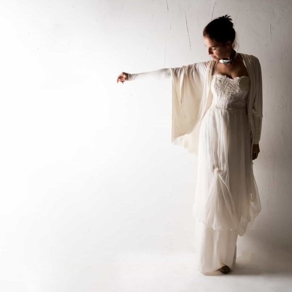 Draped Wedding Cardigan
