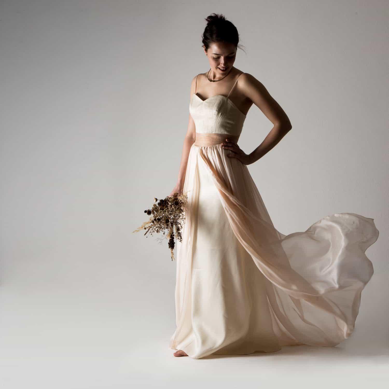 Primula ~ Peach Wedding dress - Larimeloom Handmade Clothing