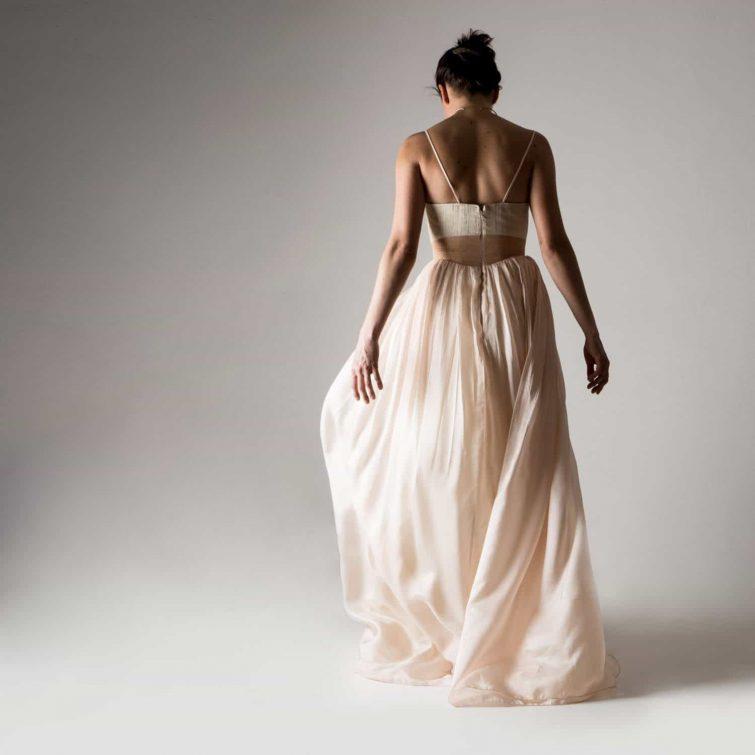 Primula ~ Peach Wedding dress