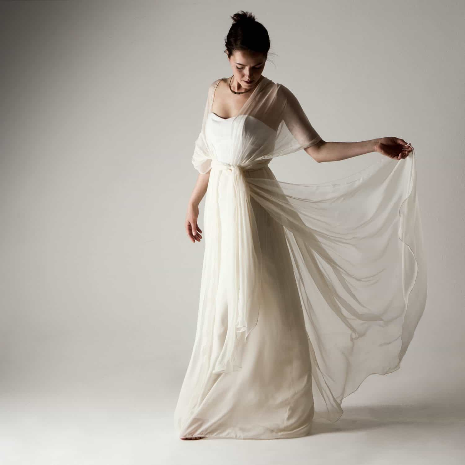 Grecian Style Wedding Gown: Infinity Wedding Dress - Larimeloom