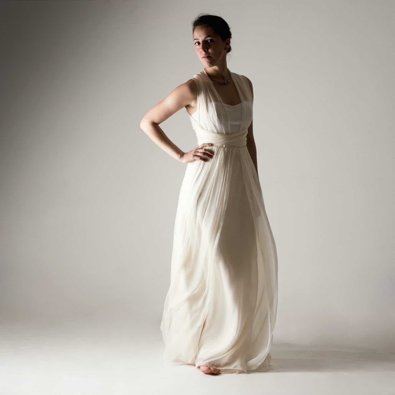 Chiffon Infinity Dress: Infinity Wedding Dress - Larimeloom