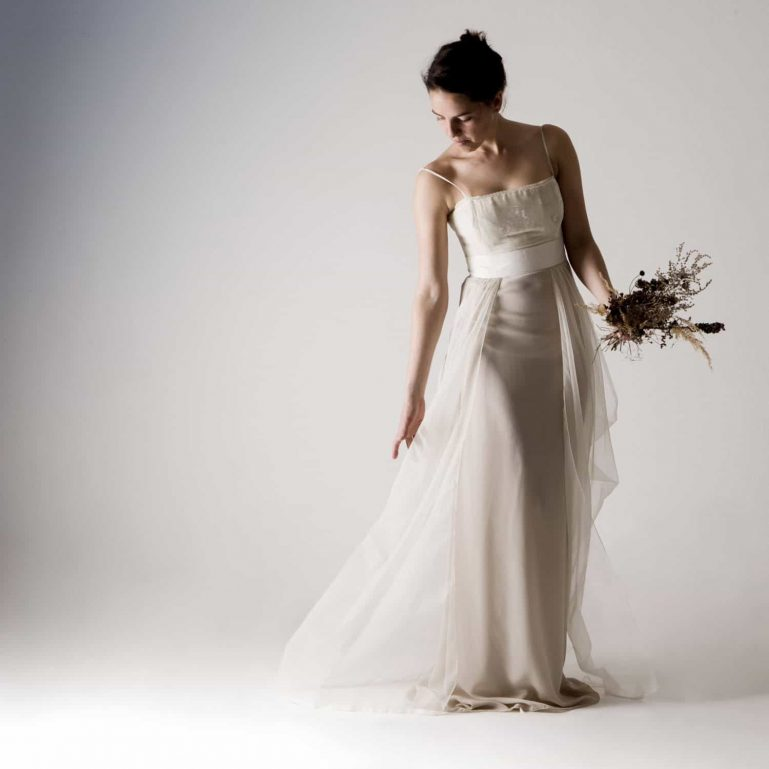 Potentilla ~ Silk Wedding Dress