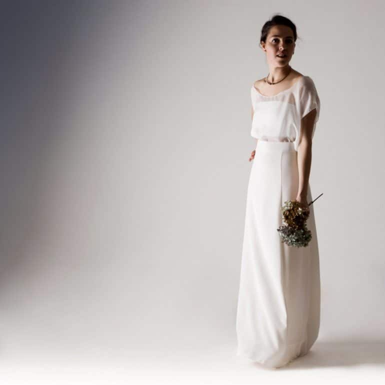 Modern Wedding Dress Separates : Wedding dress separates white alternative