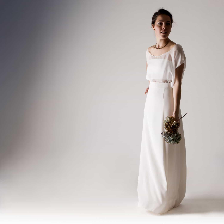Magnolia wedding dress separates larimeloom handmade for Alternative to wearing a wedding dress