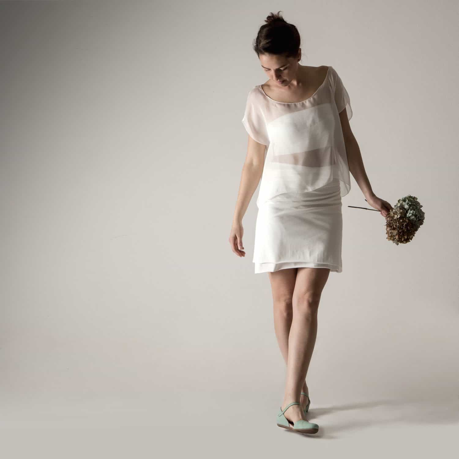 Alyssum ~ Simple Wedding Outfit - Larimeloom Italian Handmade Clothing