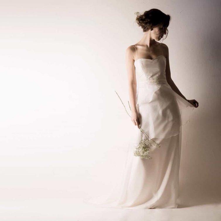 Layered Organza Wedding Dress