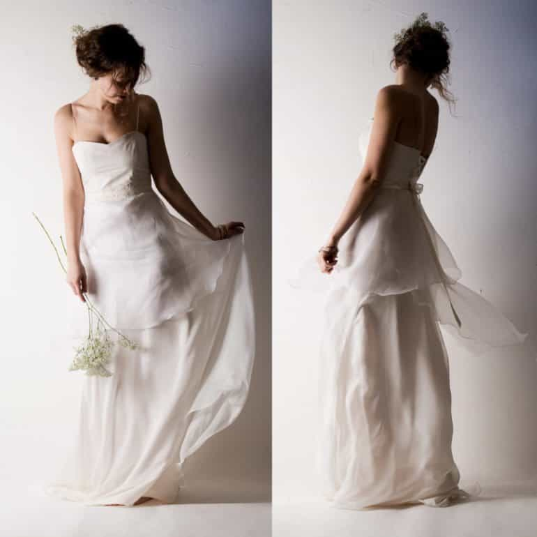 Layered Organza Wedding Dress