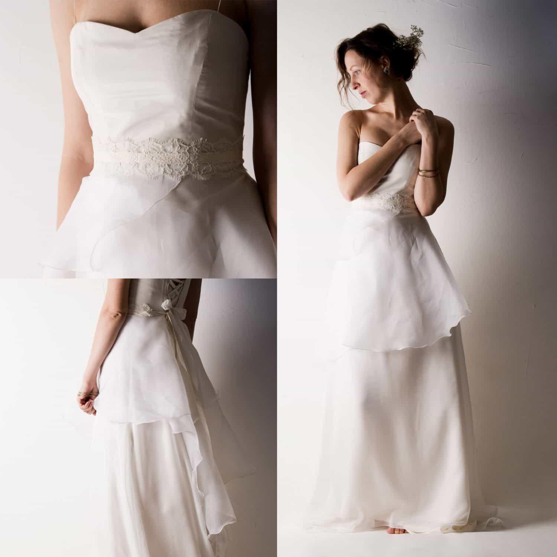 Organza Wedding Gowns: Layered Organza Wedding Dress