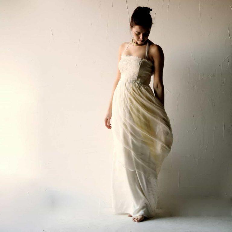 Hippie Halter Wedding dress