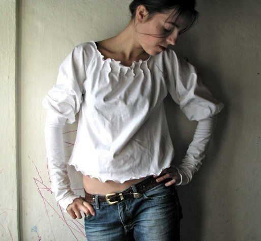 Ruffly Long Sleeve Blouse